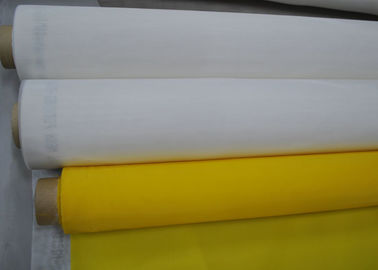 Yellow Polyester Mesh Fabric Silk Screen Tshirt Printing High Density , 91 Micron