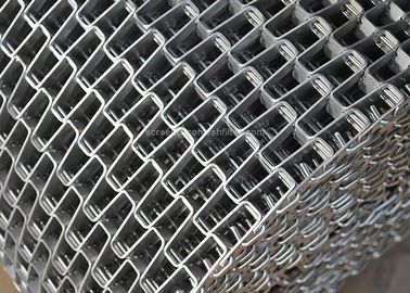 Honeycomb Wire Mesh Conveyor Belt , Metal Mesh Belt With Clinched Edge